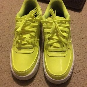 Boys Yellow Air Force ones